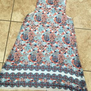 MAX STUDIO Orange and Blue Summer Dress Size Med